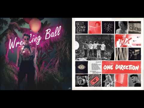 Miley Cyrus vs. One Direction - Wrecking Ball vs. Best Song Ever (Mashup)