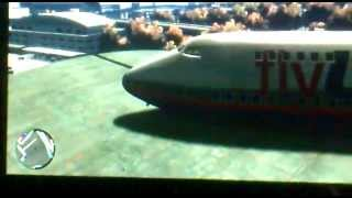 GTA 4 Manejando Avion En Aeropuerto Xbox 360 (fly Us