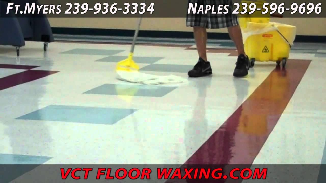 Vct Floor Waxing Naples Youtube