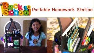 Back To School Organization Portable Homework Station