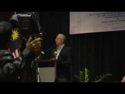 Najib Razak's speech in San Francisco, September 22, 2013.