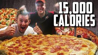 "MASSIVE 30"" PIZZA CHALLENGE WITH RANDY SANTEL! (15,000+ CALORIES)"
