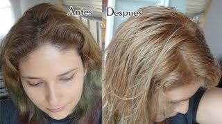 Como aclarar tu cabello sin decolorar