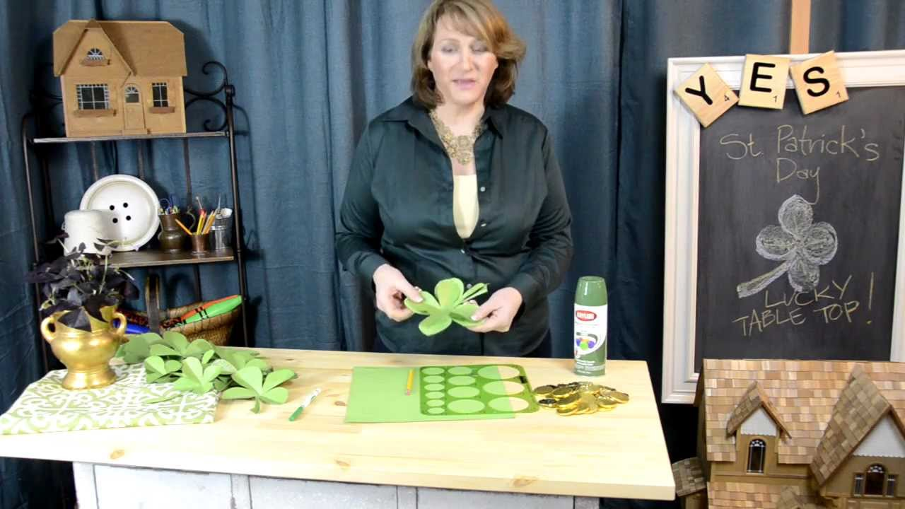 Holiday diy decorating tips for st patrick 39 s day youtube - Deco de table reveillon st sylvestre ...