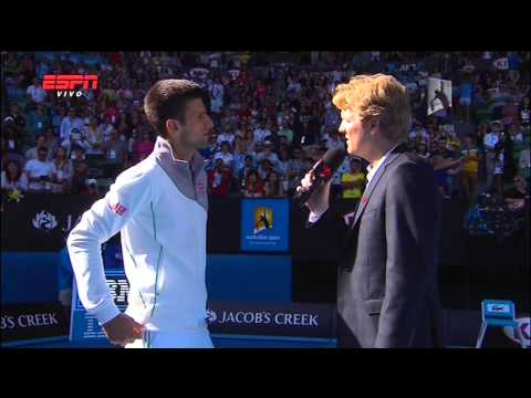 Novak Djokovic Imitates Boris Becker - Australian Open 2014