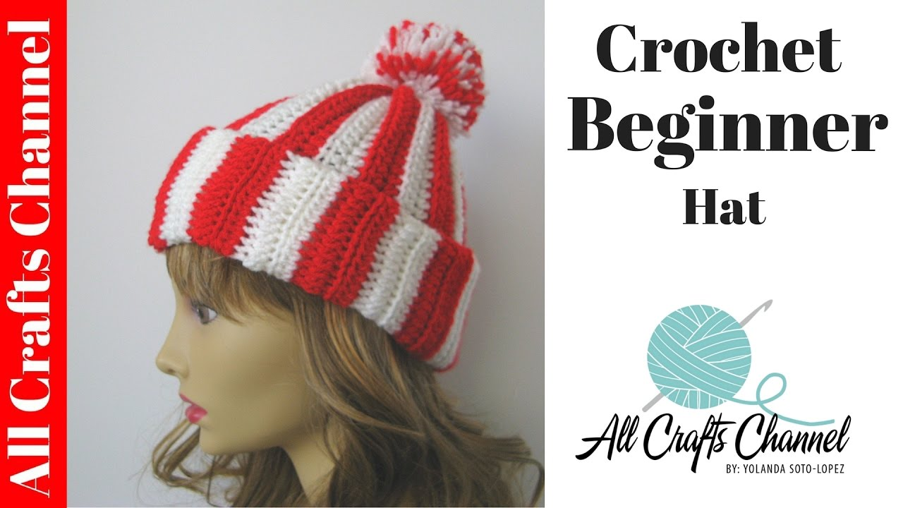 Beginner Crochet Stitches Youtube : Easy Beginner Crochet Hat - YouTube