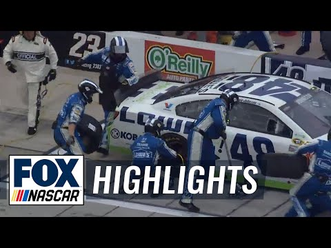 Jimmie Johnson Cuts Right Rear Tire @ 2014 Duck Commander 500