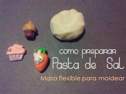 Pasta de sal | Masa flexible para moldear | FACIL