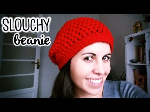 How to crochet a SLOUCHY BEANIE (super easy!) ♥ CROCHET LOVERS