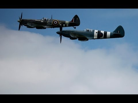 WW2 planes fly over Pegasus Bridge for D-Day anniversary
