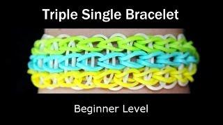 How To Make A Rubber Band Triple Single Bracelet Easy