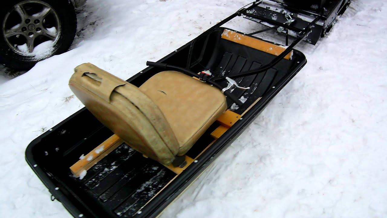 Как сделать корыто для снегохода