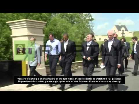 UK: World leaders meet and greet at G8 summit