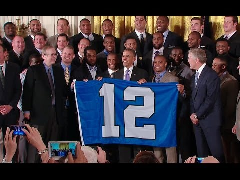 President Obama Welcomes the Seattle Seahawks to the White House