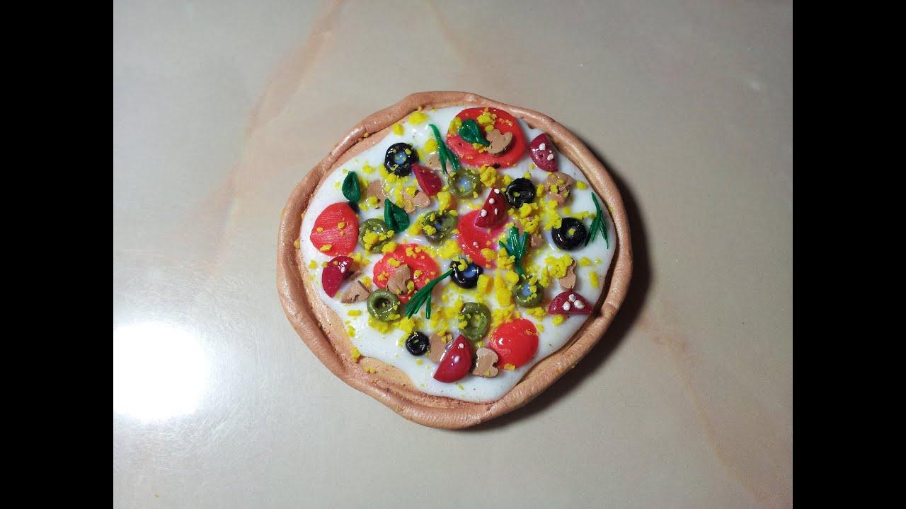 Пицца из пластилина своими руками