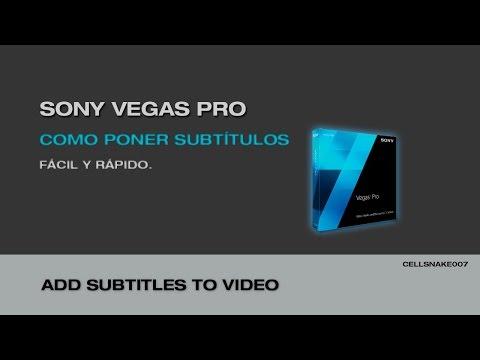 Tutorial Sony vegas Pro (creacion de subtitulos facil y rapido)