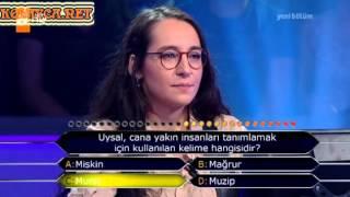 Kim Milyoner Olmak Ister 244. bölüm Mine Zeliha Nart 26.06.2013