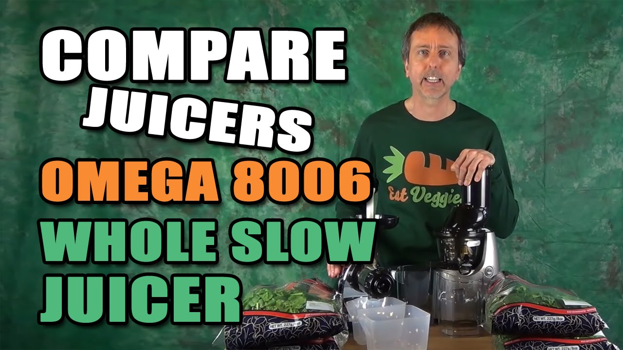 Kuvings Masticating Juicer Vs Omega 8006 : Omega 8006 vs Kuvings Whole Slow Juicer B6000S Spinach Greens - YouTube