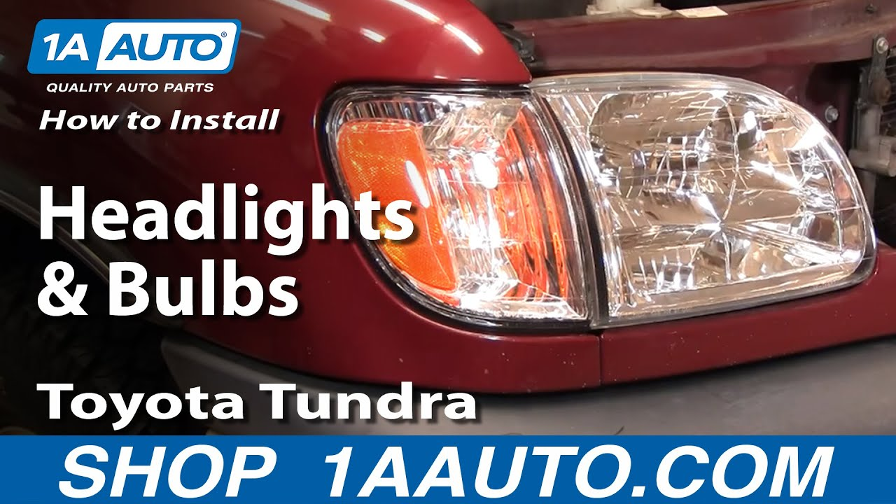 How To Install Replace Headlights And Bulbs Toyota Tundra