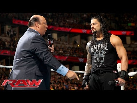 Paul Heyman reminds Roman Reigns what's really at stake at WWE Fastlane: Raw, February 15, 2016