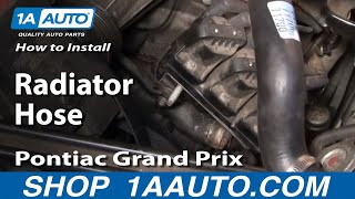 How To Install Replace Lower Radiator Hose Grand Prix