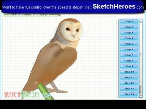 How to draw Soren (The Legend of the Guardians) -- drawing tutorial video