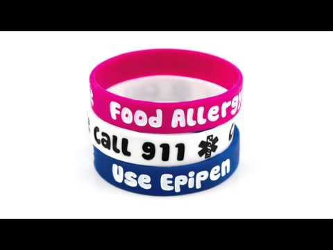 Food Allergy Silicone Medical ID Bracelets