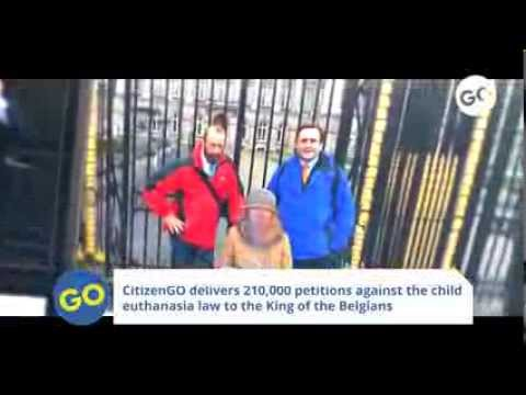 CitizenGO delivers 210,000 petitions against the child euthanasia law to the King of the Belgians