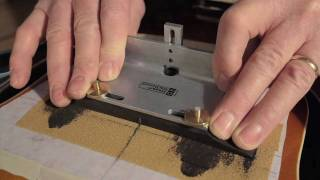 Watch the Trade Secrets Video, Archtop Bridge Fitting Jig