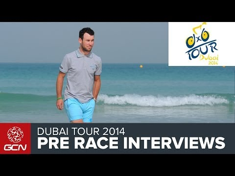 Dubai Tour - Pre Race Interviews - Mark Cavendish, Fabian Cancellara And Marcel Kittel