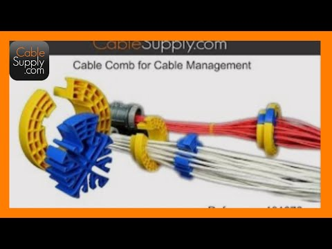 Bundling Ethernet Cable With The Cable Comb And
