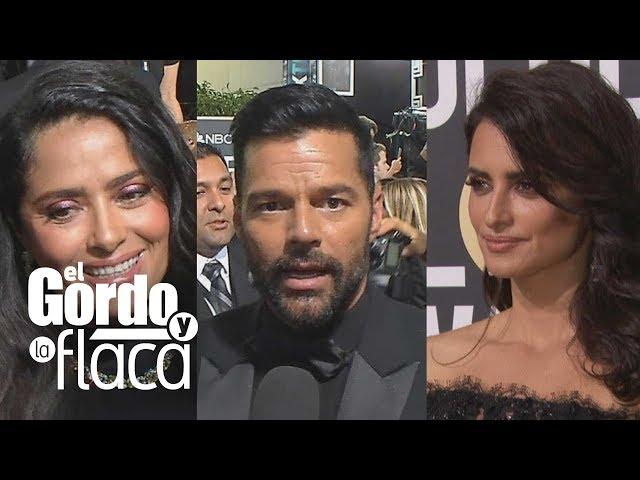 Salma, Penélope y Ricky alzan la voz en los Globos de Oro