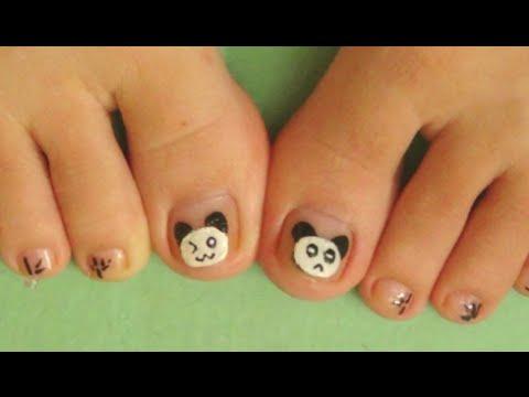 Nail Art For Beginners - Vẽ Móng Chân Đẹp Kiểu Gấu Trúc Panda | Yêu Làm Đẹp
