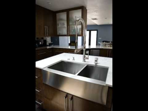 Stainless Steel Farmhouse Sinks & Undermount Sinks - YouTube