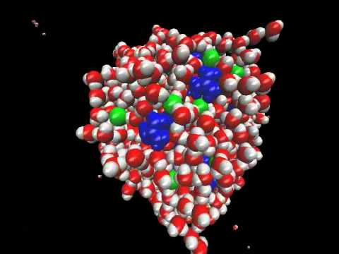 Molecular Dynamic simulation of 'salt' water droplet