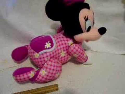 Mechanical Musical Crawling Minnie Toy - YouTube