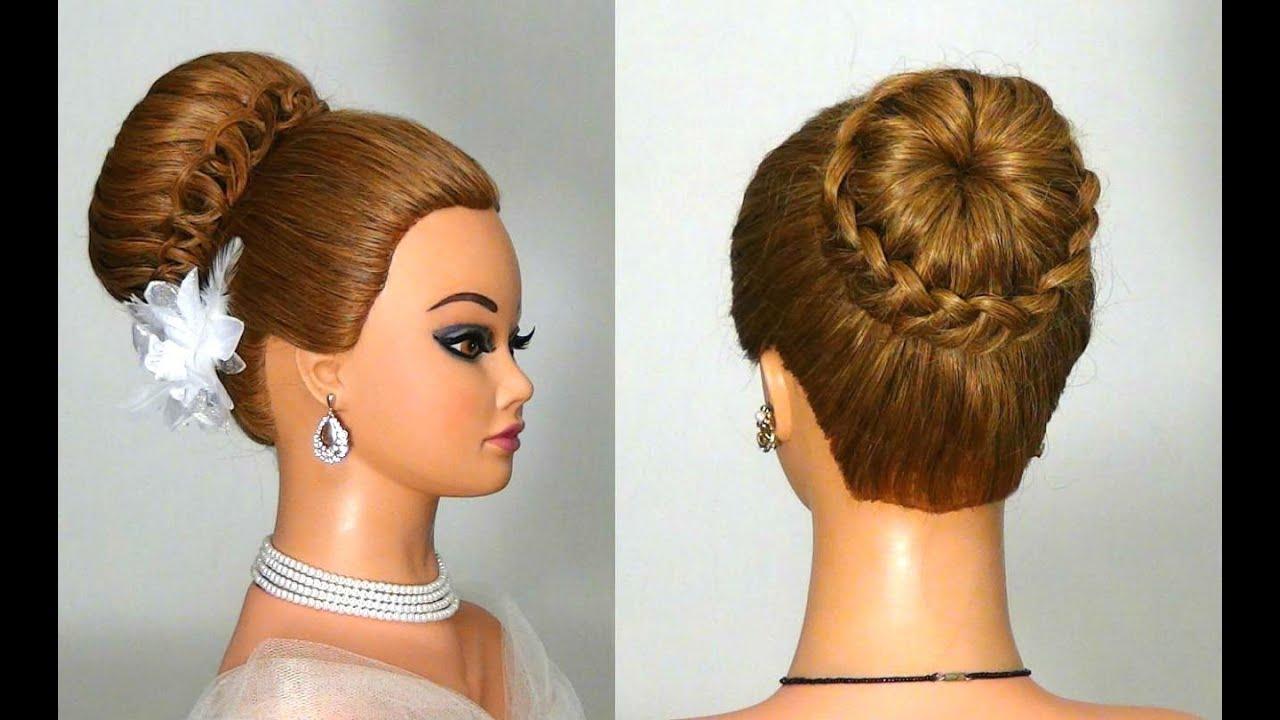 Прическа на средние и длинные волосы