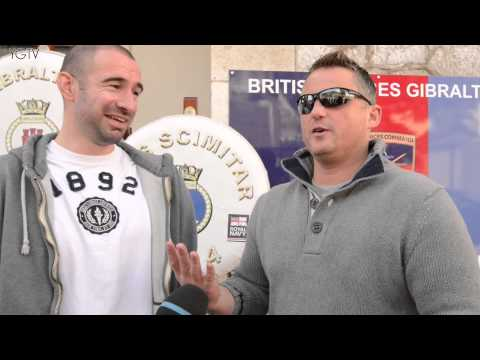 YGTV Gibraltar News Video: Talk Sport Radio's Darren Gough Visits Gib Navy Squadron with GFA's Danny