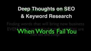 Keyword Marketing & SEO For Tourism When Words Fail You