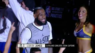 Team LeBron 2018 All-Star Practice Introductions