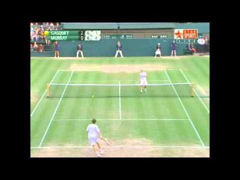 2008 Wimbledon Richard Gasquet vs Andy Murray Highlights