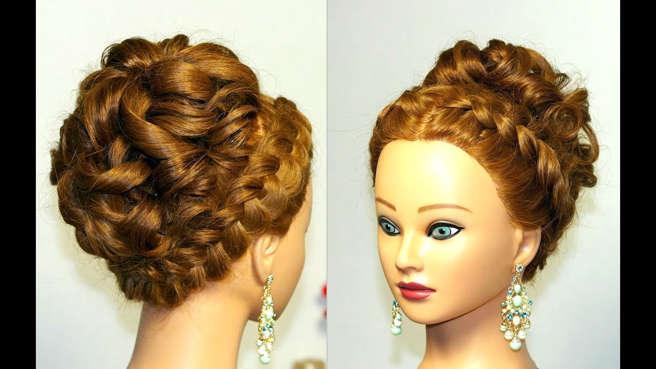 Updo Hair Styles For Prom: Wedding Prom Hairstyle For Long Hair With French Braid