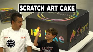 The Cake Boss and Carlo Invent a Fun Scratch Art Cake for Kids | Cool Cakes 10