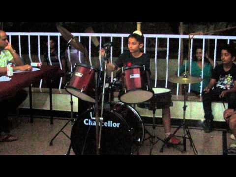 Shaurya's Drum Performance with Folk Sounds (Dandia, Punjabi, Goan)