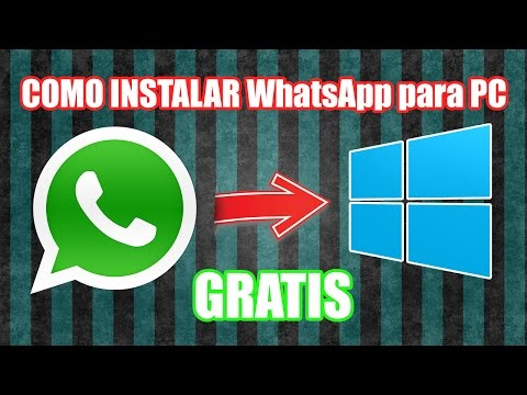 Instalar WhatsApp para PC 2015 en Windows 8 | 8.1 | 7 | Vista | XP