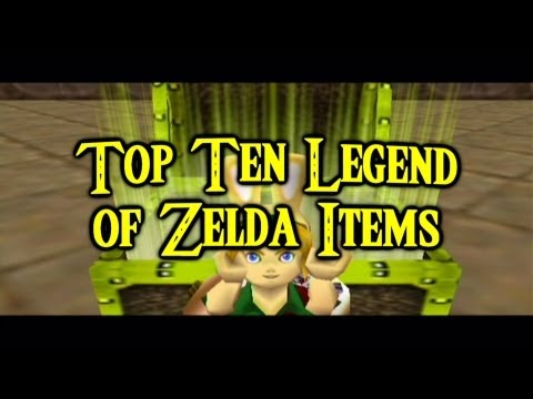 Top Ten Legend of Zelda Items, Inquiries are still underway as to how the green guy can hold so many of these trinkets. Follow me on Twitter: https://twitter.com/rabbidluigi Like me on Fac...