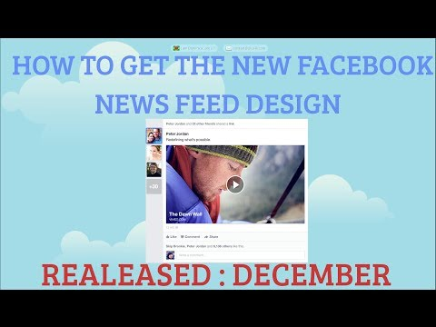 How To Get The New  Facebook News Feed Design (Two Methods)