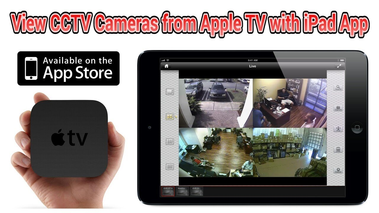 how to use apple tv airplay and ipad to view cctv security cameras youtube. Black Bedroom Furniture Sets. Home Design Ideas