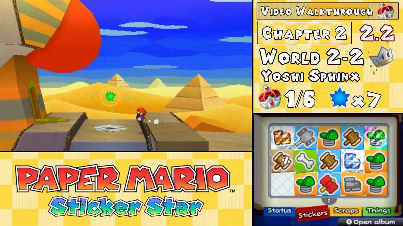 paper mario sticker star yoshi sphinx help Yoshi sphinx is the second level of world 2 in paper mario: sticker star yoshi sphinx is actually in the same region as drybake desert but with the noticeable yoshi.