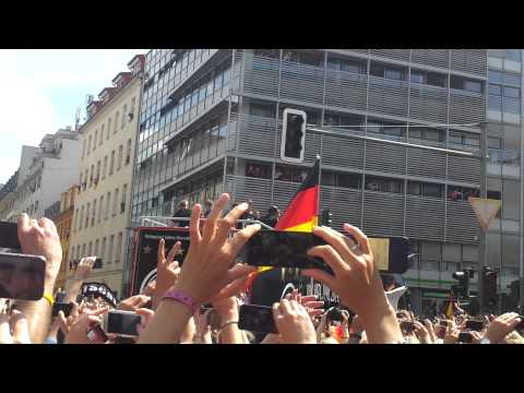 German National Football Team arriving in Berlin